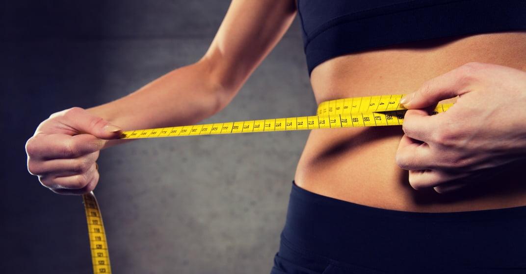 Měření břicha po hubnutí