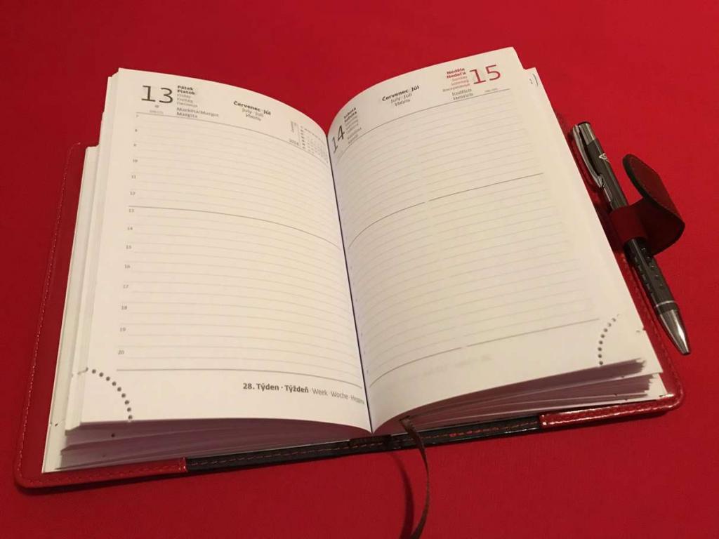 Zápisníkový kalendář