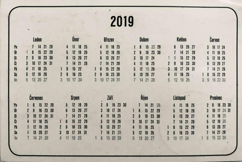 Podrobný kalendář