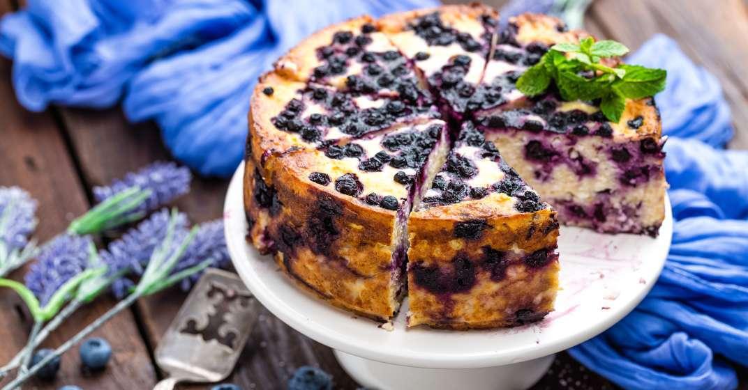 borůvkový zdravý cheesecake