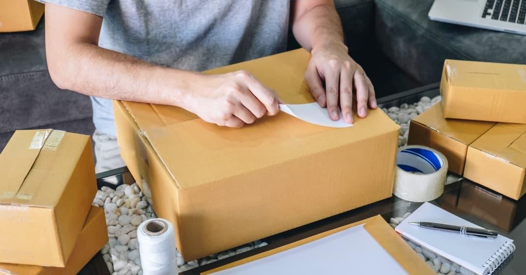 příprava odeslání balíku